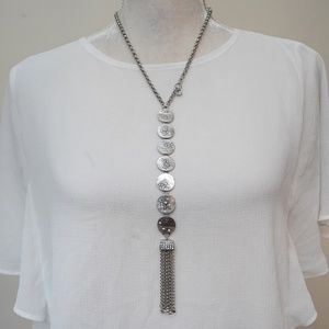 Chico's Jewelry - Chicos Silver Tone Statement Necklace